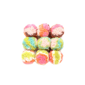 Yarn Pom Ornaments - winter hat glove - hand-knit - French Knot