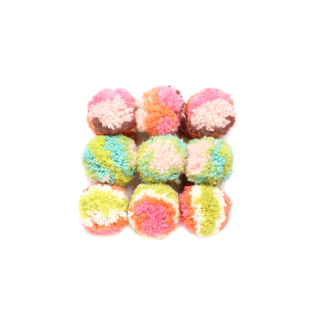 Yarn Pom Ornaments