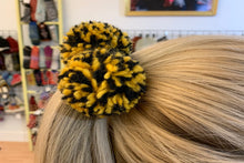 Collegiate Hair Ties - winter hat glove - hand-knit - French Knot