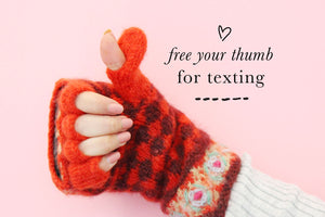 Rita Convertible Mittens - French Knot