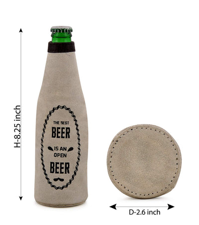 koozie fabric cover beer beer bottle holder stainless steel