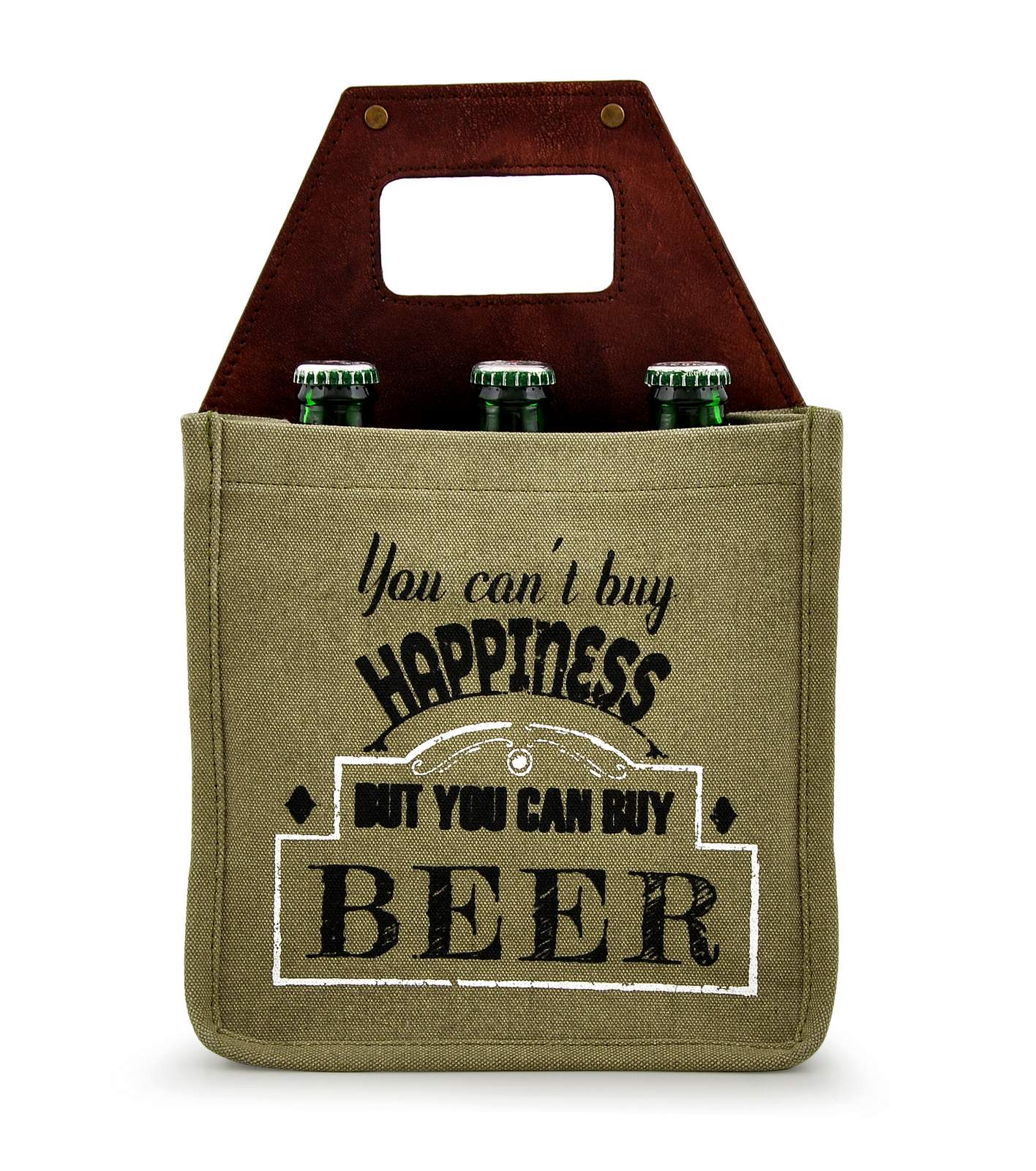 leather beer holder