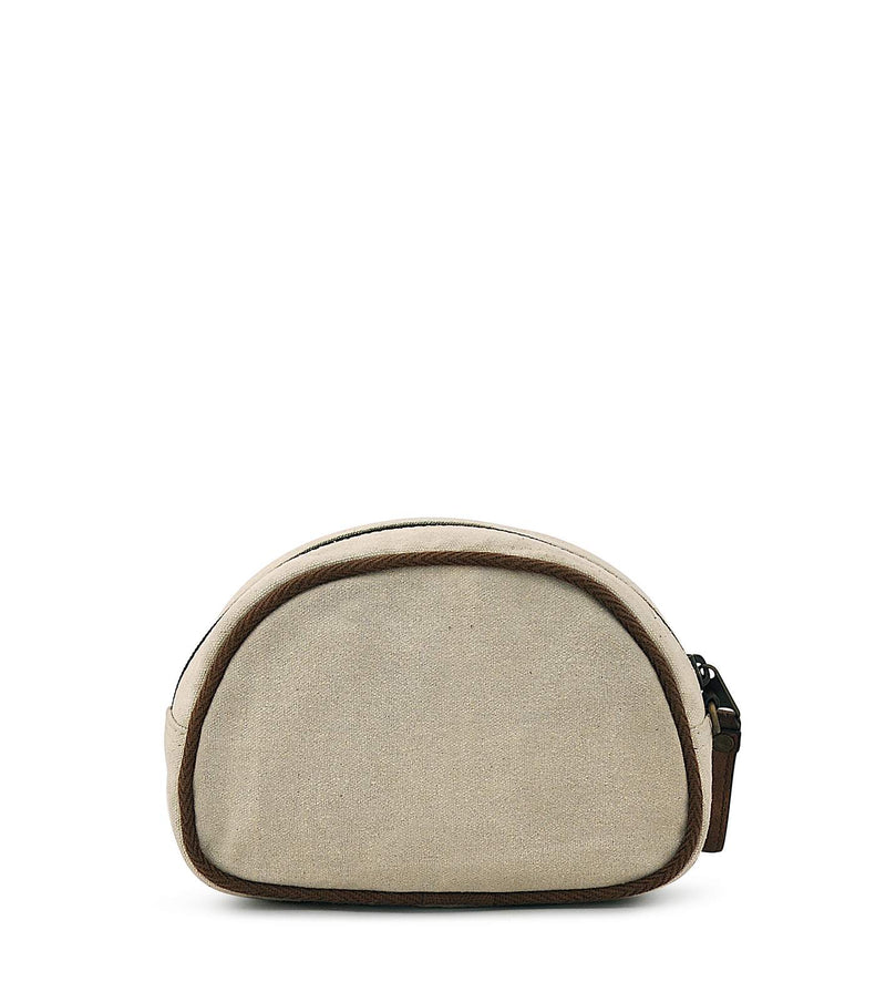 canvas cosmetic bag with zipper