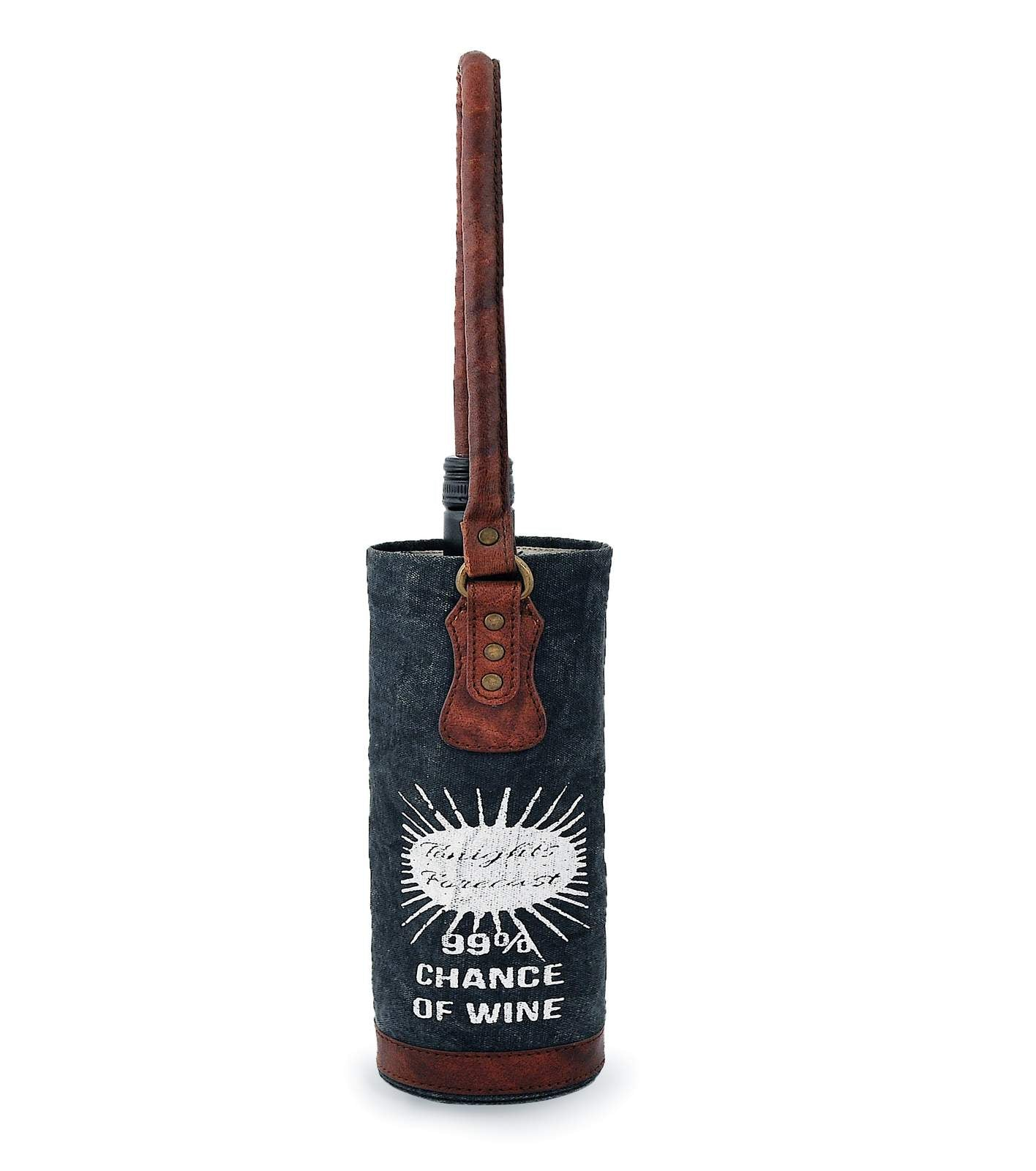 Wine Bottle Tote Bag DWB18-0007
