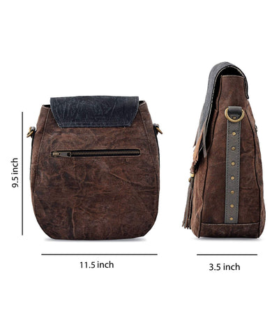 cotton crossbody bag sling cross body bag canvas leather duffle bag