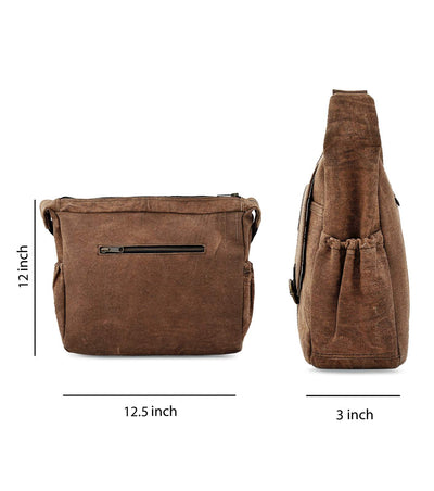 crossbody chest bag tassel crossbody waxed canvas and leather bags