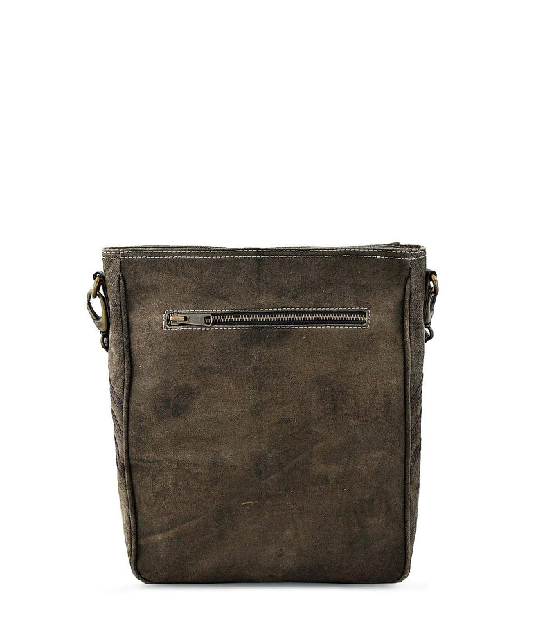 bag women crossbody cross body waxed canvas wine bag