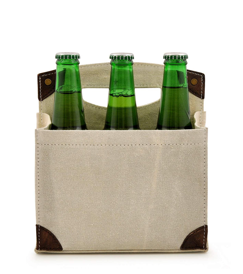 Canvas Beer Caddy 6 Pack DST18-0001