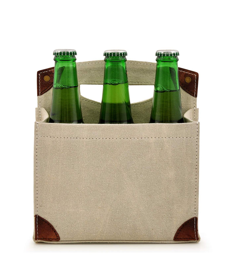 Canvas Beer Caddy 6 Pack DST18-0002