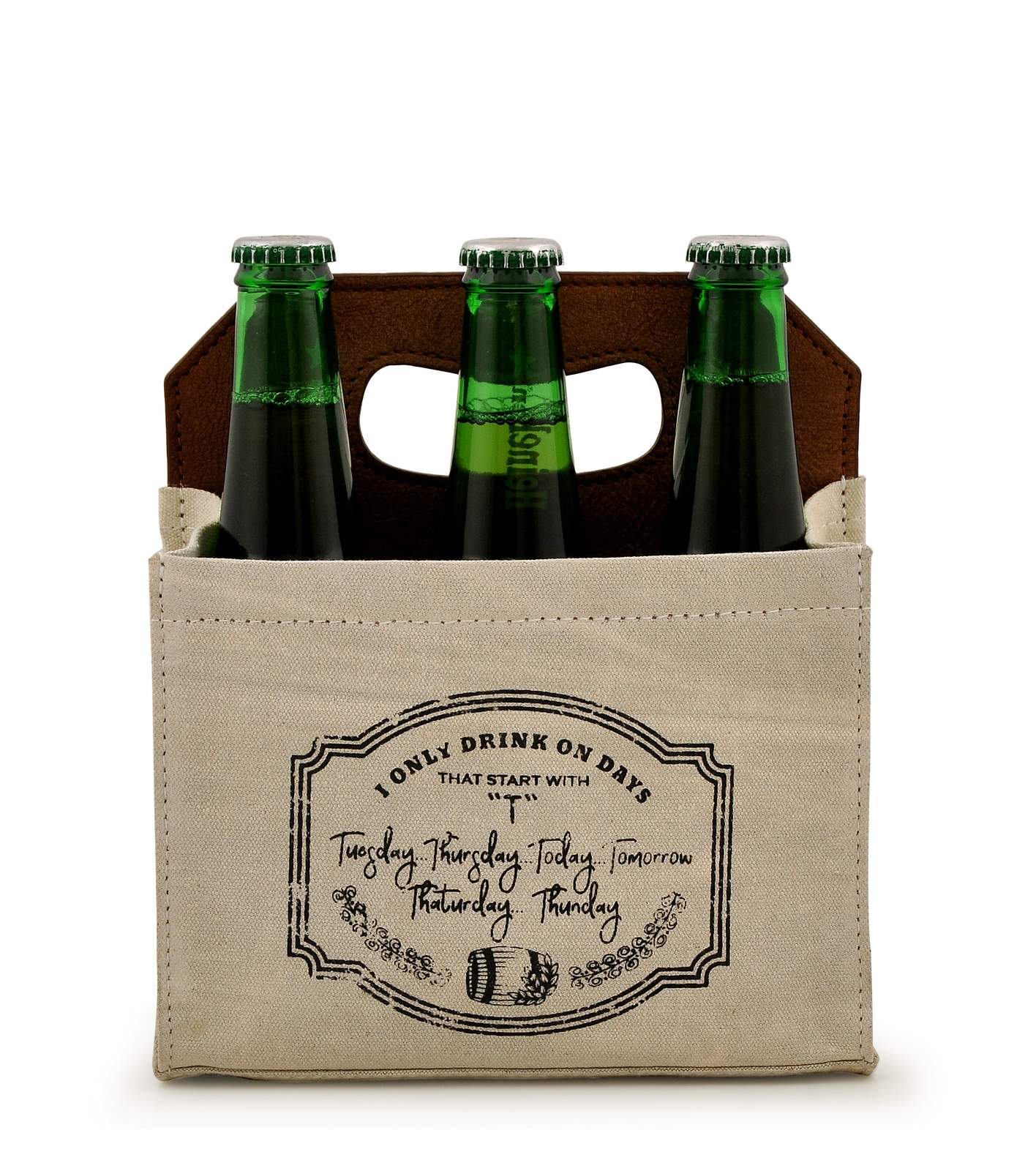 Canvas Beer Caddy 6 Pack DST18-0004