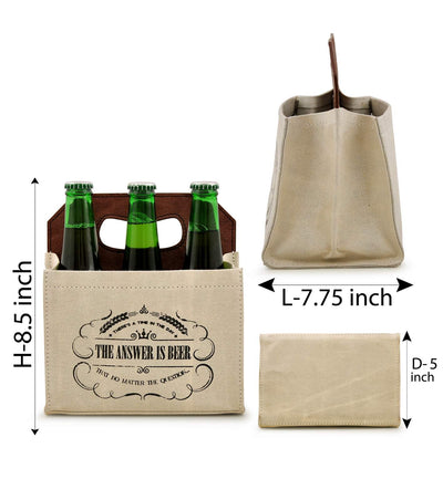 6 pack beer bottle holder