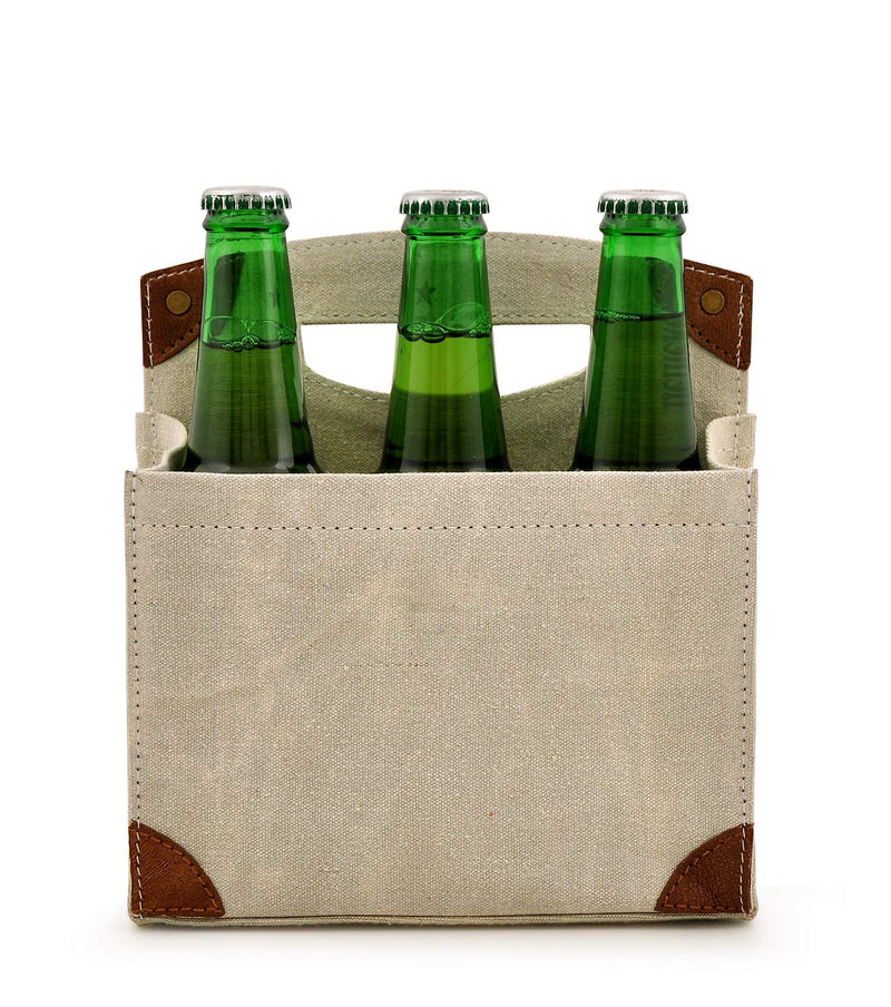 Canvas Beer Caddy 6 Pack DST18-0006