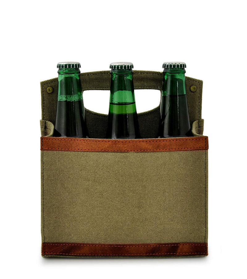 Canvas Beer Caddy 6 Pack DST18-0007