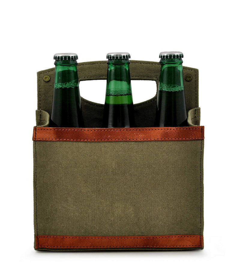 Canvas Beer Caddy 6 Pack DST18-0008