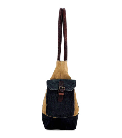 cotton canvas tote bag promotional waxed canvas leather backpack pu handbag women bag