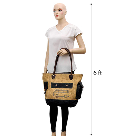 8oz canvas tote travel canvas backpack business leather handbag women