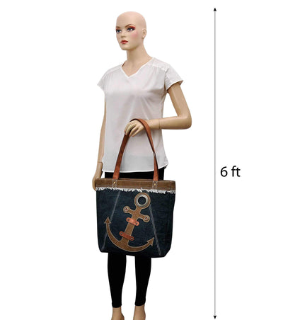 wholesale canvas tote bag lined mini canvas backpack women bag leather handbag