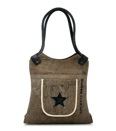 two-tone canvas tote bag waxed canvas backpack crocodile pattern leather women handbag