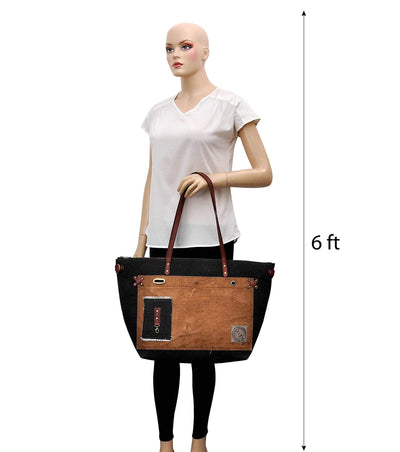 canvas tote bag zipper canvas and leather tote bag canvas ladies handbags ladies leather handbag manufacturers