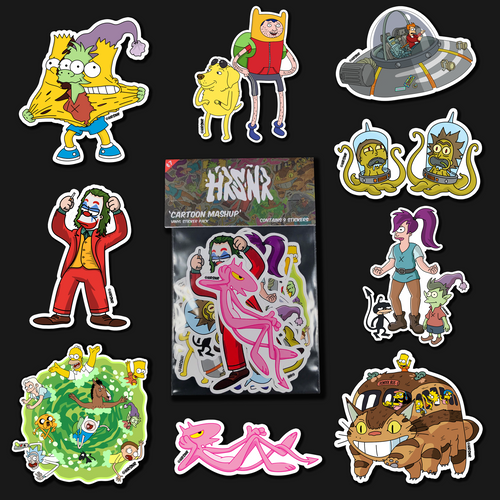 Cartoon Mashup Stickers