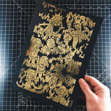 Load image into Gallery viewer, A4 Holographic/ Gold Foil Prints