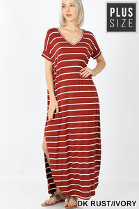 MONICA STRIPED MAXI -PLUS