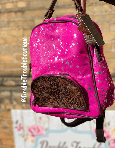 Barbie Acid Cowhide Backpack