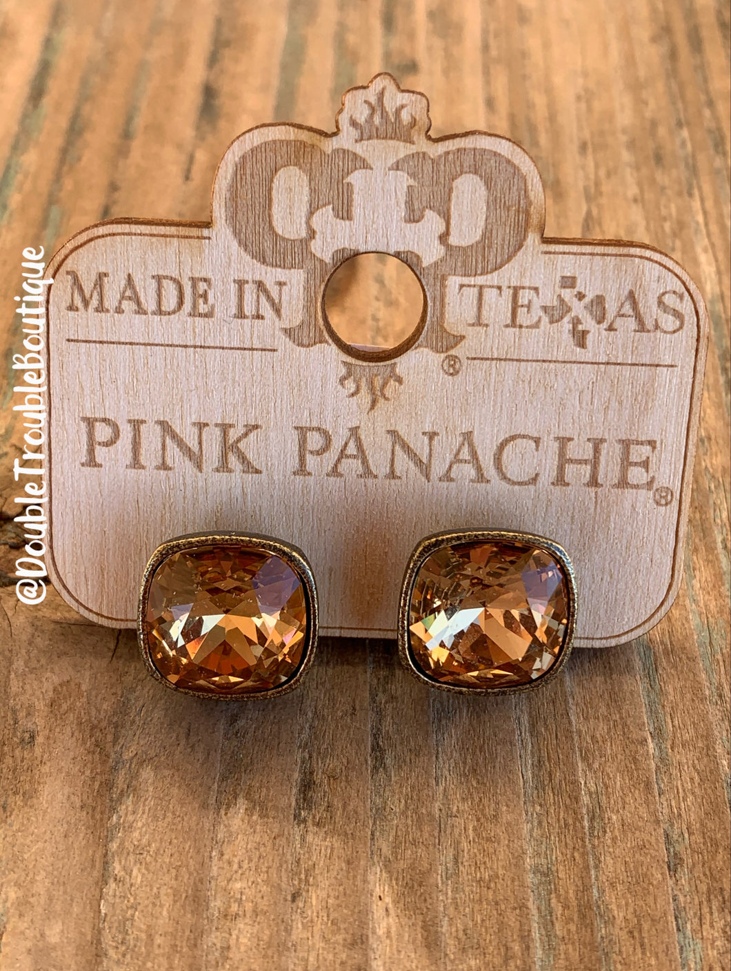 Pink Panache Post Studs LG- Brown Bronze