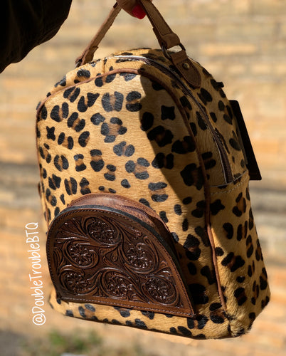 Wild Wild Leopard Tooled BackPack