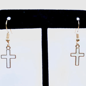 """Cross"" Drop Earrings"