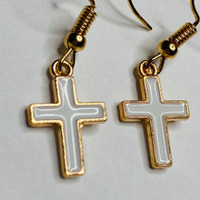 "Load image into Gallery viewer, ""Cross"" Drop Earrings"