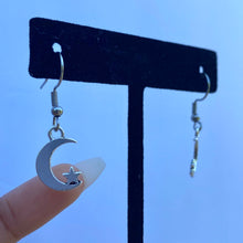 "Load image into Gallery viewer, ""Moon + Star"" Drop Earrings"