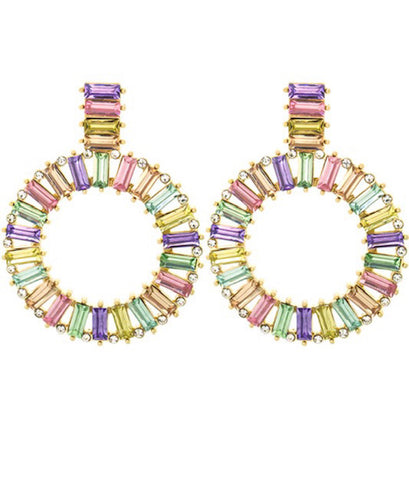 Light Multi Jewel Earrings