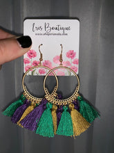 Load image into Gallery viewer, Rebecca Hoop Mardi Gras Earrings