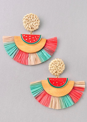 Hannah Watermelon Earrings