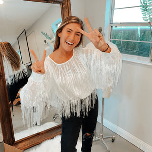 Cher Fringe Top