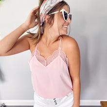 Load image into Gallery viewer, Blush Lace Cami