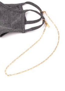 Gold Paperclip Mask Necklace