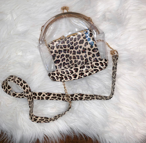 Clear Game Day Purse (Cheetah)
