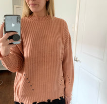 Load image into Gallery viewer, Mauve Knit Sweater