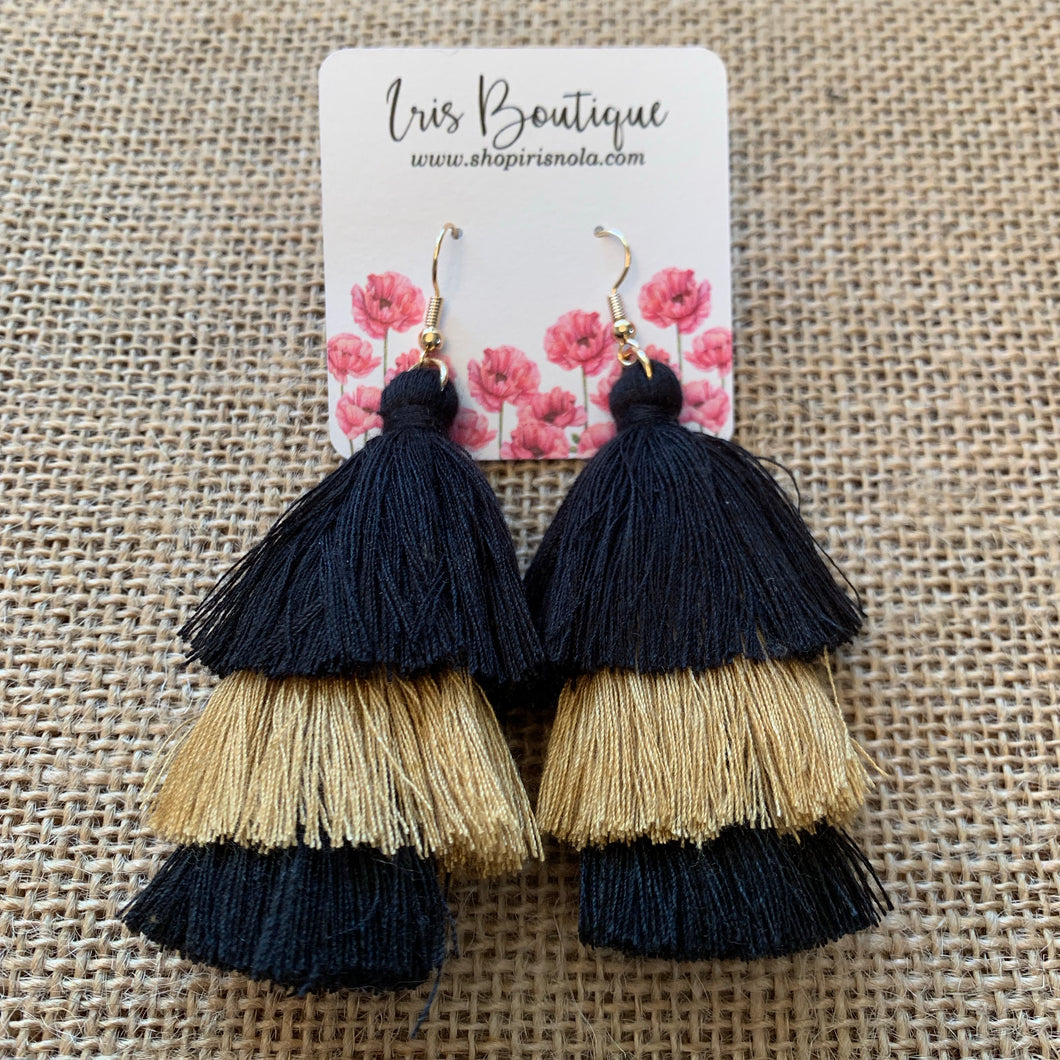 Saints Fringe Earrings