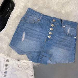 Logan Denim Shorts [Light Blue]