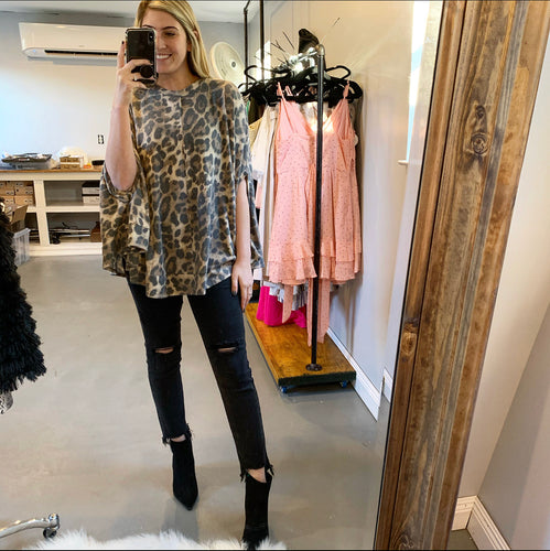 Wild Cheetah Print Top