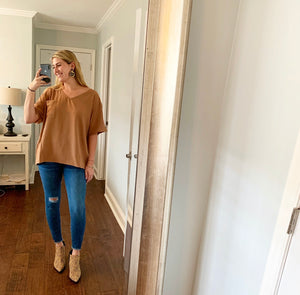 Carly Camel Top