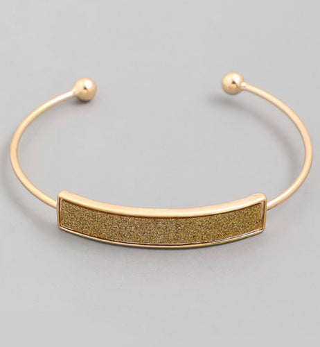 Gold Glitter Stackable Bracelet