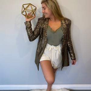 Shimmer Blazer Dress/Jacket