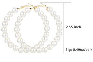 Pearl Hoops (2.25in.)