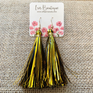 Saints Tassel Earrings