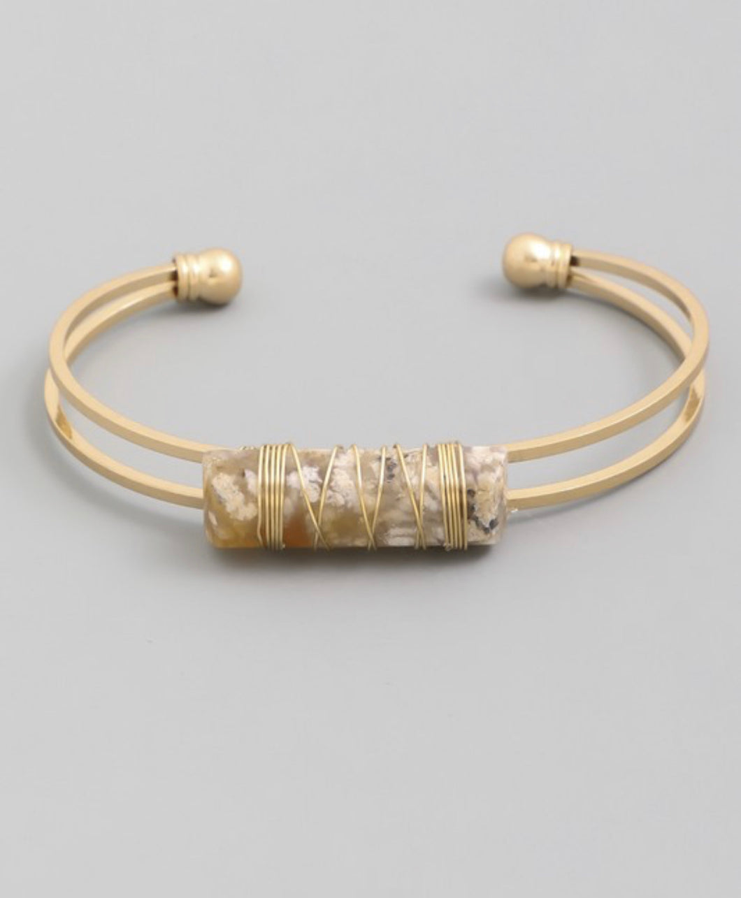 Gold Quartz Stackable Bracelet