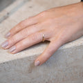 Chevron Ring in Yellow Gold